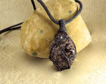 Garnet Pendant - Root Chakra - I Am Energy Courage Vitality Grounding Security Survival - January Birthstone - Reiki Infused