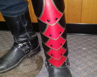 Leather Armor Ornate Scaled Greaves