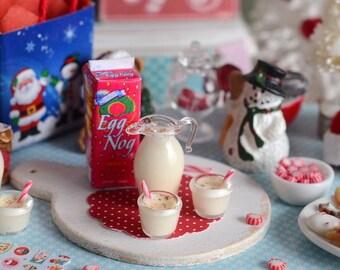 Miniature Christmas Eggnog Set