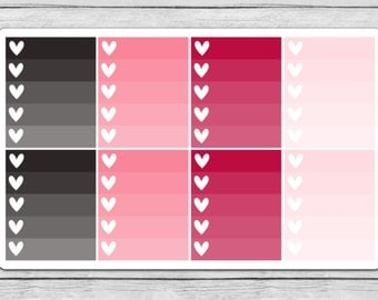 Love Letters Ombre Heart Checklist Planner Stickers