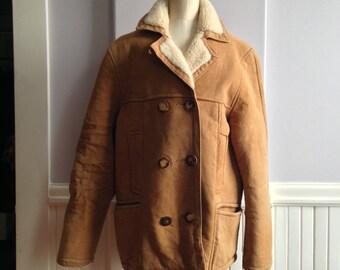 Vintage Sheepskin Jacket / Made in France for Roos Atkins, California