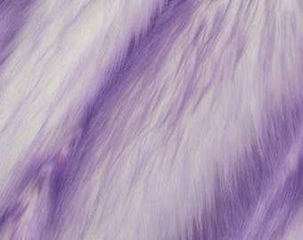 Candy Shag Fur Lavender 58 Inches Fabric by the Yard, 1 yard