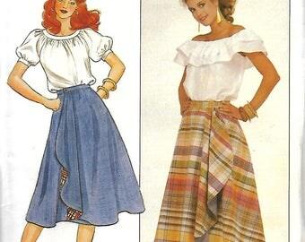 Butterick 4404 Misses Reversible Wrap Skirt Pattern, Size 18-22, UNCUT