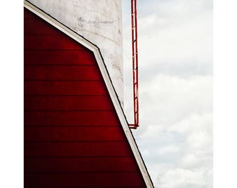 Red Barn Photography, Rustic Country Wall Art, Farmhouse Decor, Farm Decor, Vertical Print | 'Up'
