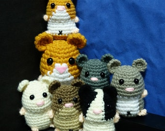 Very Cute Crochet Amigurumi Hamster or Mouse Key chain/Display Doll Toy