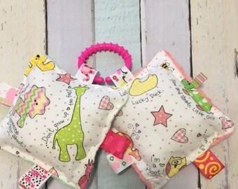 Baby girl toys, baby crinkle toys, baby girl teething toys, teething toy sets, infant toys, infant girl sensory toys