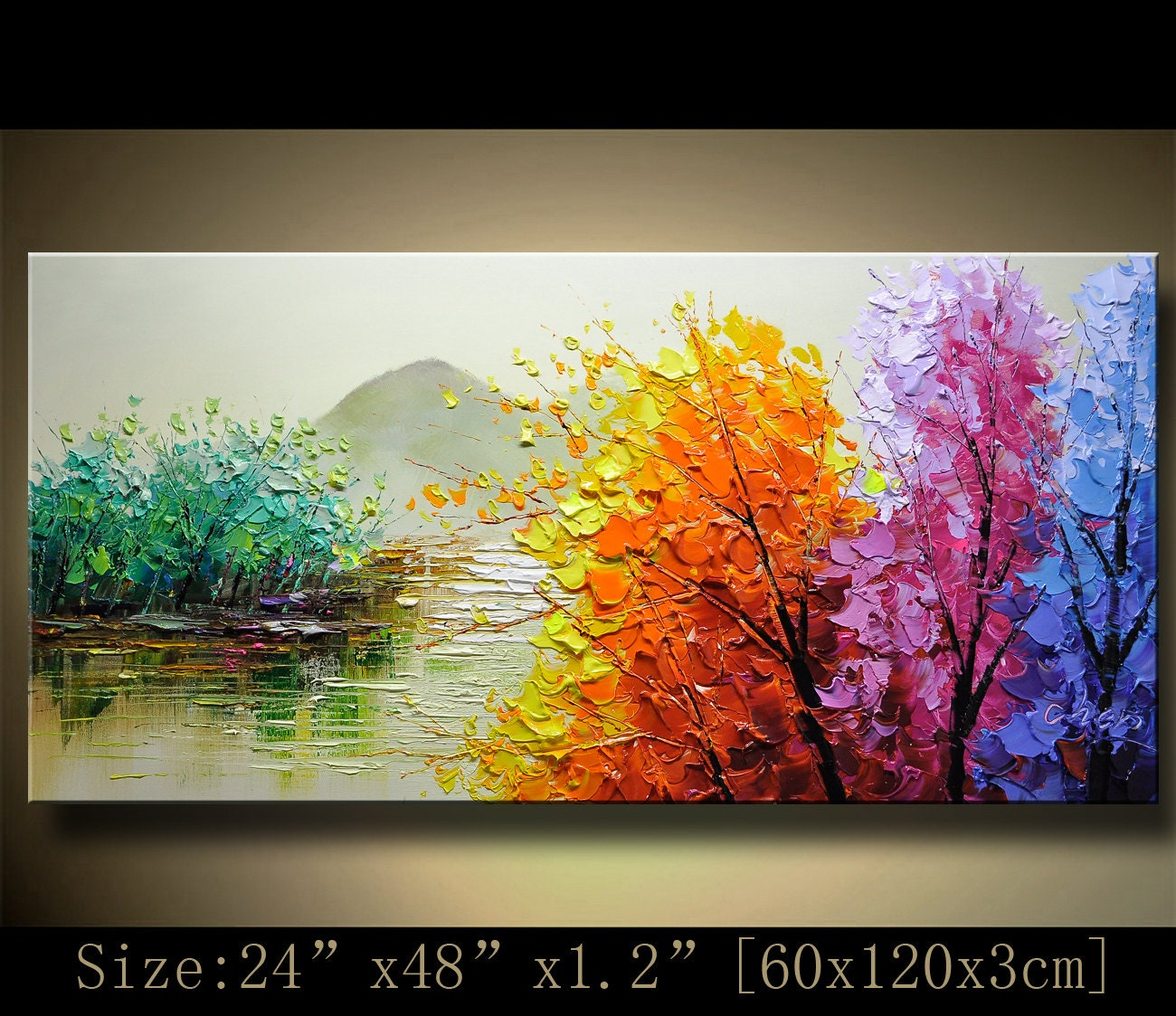 How To Do Knife Painting On Canvas