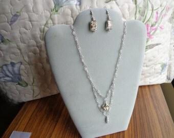 Murano glass / .925 silver necklace.