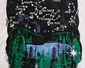 Starry Skies tea towel