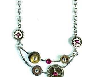 Queen Elizabeth  Steampunk Necklace, Steampunk Jewelry