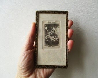 Antique french little religious engraving, 1920-1940, Paper ephemera, Religion, France