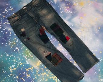POLO Ralph LAUREN Patch Jeans Size 37