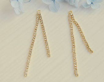 6 pcs  Drill chain Pendant  finding