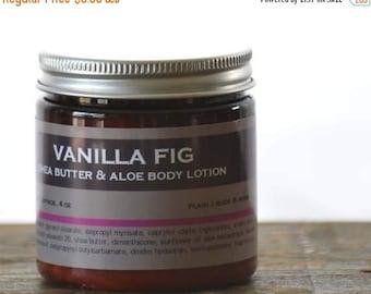 ON SALE Vanilla Fig Shea Butter Aloe Body Lotion - vanilla fig lotion - musk body lotion - fig body lotion - vanilla body lotion - sweet bod