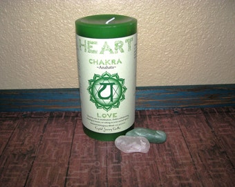 Chakra Candle, Chakra Stones, Chakra Crystals, Crystal Healing, Heart Chakra, Heart Chakra Candle Kit