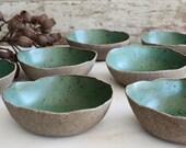 Rustic Green Bowl - Breakfast Bowl - Ceramic Bowl - Pottery Bowl - Cereal Bowl - Speckled Bowl - Green Ceramic Bowl