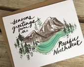 6 Holiday Greetinf Cards/ Northwest Holiday Cards / Mt. Rainier Greetings
