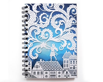 Spiral Notebook - Falling Star - Lined Pages - A5 notebook