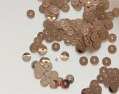 Small rose gold sequins