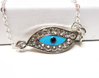 Evil Eye Necklace - Evil Eye  Pendant-Evil Eye bracelet  -free gift