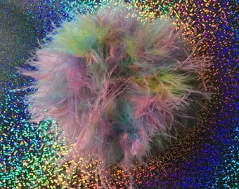 PASTEL Chick FLUFF Hair Scrunchie