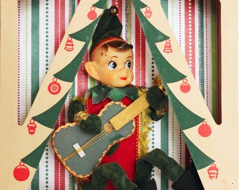 Elf, Christmas Diorama Shadow Box Elf free ship