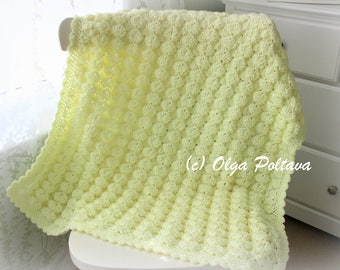 Marshmallow Baby Blanket Crochet Pattern, Baby Afghan Pattern, Easy Crochet Pattern, Instant PDF Download