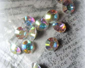 Swarovski Crystal AB Pointed Back Rhinestone 28SS, 6mm Jewelry Repair, Crystal Clay Project, Assemblage