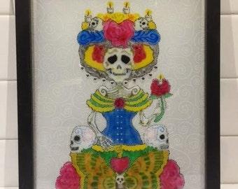 Katrina Painted Stain Glass Art