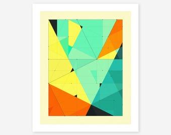 DELINEATION 121 (Giclée Fine art Print) Abstract, Geometric Artwork