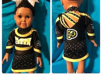 "Replica Cheer Uniform for 18"" doll"