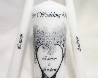 Wedding Unity Candle set, Personalize Unity candle set, Wedding Photo Candle set, Wedding candle set, Wedding Candle