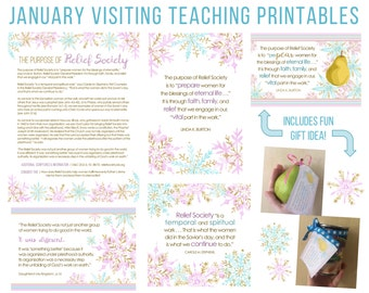January 2017 Visiting Teaching Message Printable Instant Download - LDS - Mormon - VT Message