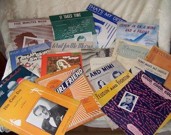 Vintage Sheet Music (lot of 18)Sheet Music Bulk.Sheet Music Lot.Piano Sheet Music.Music Wedding Crafts.Sheet Music Love Songs.Music Teacher.