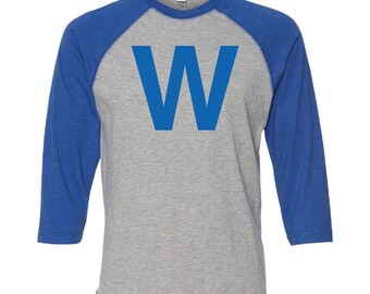 Fly the W Adult & Youth Raglan Shirt with Screen Printed W!