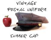 Vintage Mailman's Uniform Cap - 1960s Post Office - Marshall Uniform Co. - Postman's Cap - Letter Carrier Hat - Prop or Costume Hat - 6 7/8