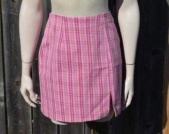 Pink Skirt, My Michelle Skirt, Size 13, Size 14, Pink and Purple Women's Skirt, Short Skirt, Sporty, Casual Skirt, 80's Skirt