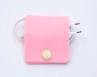 Cable Band, cable organizer,Felt cord keeper, Cable manager, Headphone organizer, Cord catch, Earphone holder, Felt cable holder