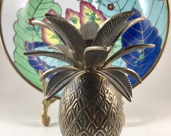 Pineapple Candlestick, Pineapple Candle Holder, Silverplate Pineapple, Housewarming Gift, Symbol of Hospitality