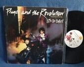 """Vintage, Prince - """"Let's Go Crazy / Erotic City"""", 12"""" 45 RPM Vinyl Record, w Picture Sleeve, Purple Rain, Sheila E, Funk, Soul, Dance"""