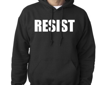 Resist Pullover Hoodie Political Politics USA America United States Adult Mens Womens S-5XL