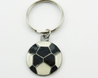 Vintage Soccer Ball Keychain