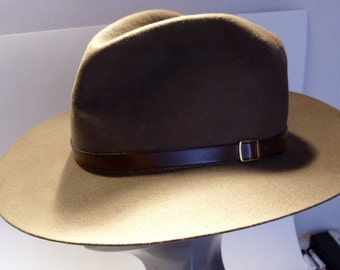 Brown Felt Indiana Jones Style Hat Zoological Society of San Diego Size Small  Great gift for Dad