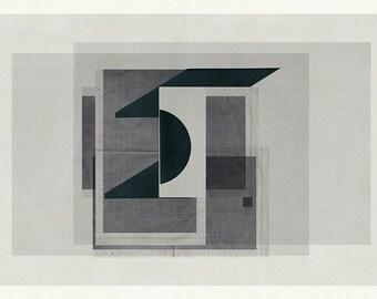 Abstract Wall Art Decor, Minimalist Art, Abstract Art, Modern Art, Geometric Print, Geometric Art - Abstract composition 942