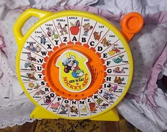 See N Say Mickey ABC'S Mattel, See N Say Talking toy, Talking Toy, Mattel Toys, Mattel Talking toys, Toys, Vintage Toy, Special Needs Toy 89