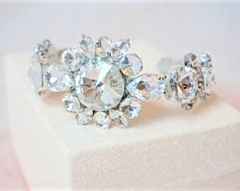 Rhinestone Cuff Bracelet,Bridal Cuff Bracelet,Wedding Cuff Bracelet,Crystal Cuff Bracelet,Bridal Bracelet,Sparkly Bracelet,Wedding Bracelet