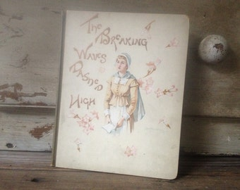 1880 Childrens Book 1st Edition Pilgrims Story The Breaking Waves Dashed High Poetry Illustrations Book Plate Engravings
