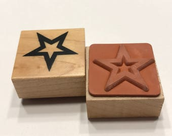 small star rubber stamp, 20 mm (BB4/2)