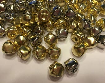 15 piece assorted silver and gold jingle bell mix, 13 mm (HR28)