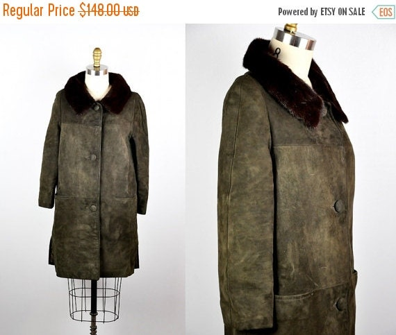 Vintage Coat Fur Collar 57